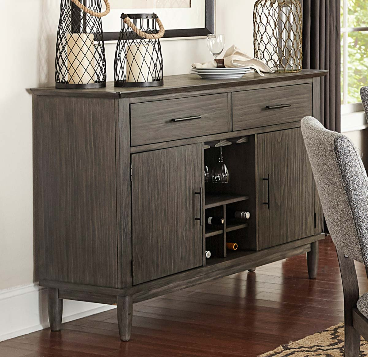 Homelegance Roux Server - Rustic or Grey