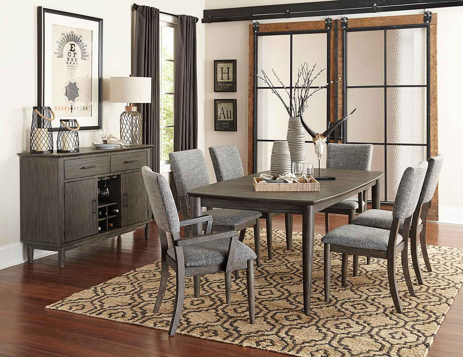 Homelegance Roux Dining Set - Rustic or Grey