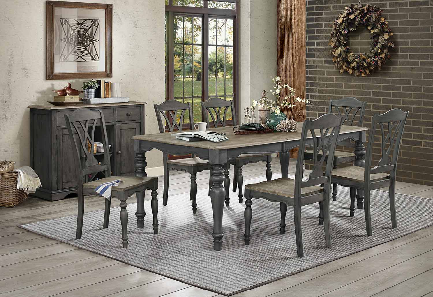 Homelegance Hyacinth Dining Set