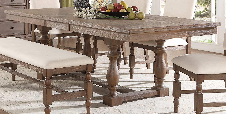 Homelegance Chartreaux Dining Table - Natural Taupe - Oak veneer