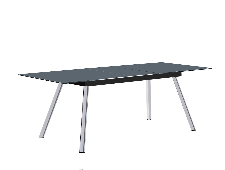 Homelegance Chromis Dining Table - Grey - Grey Bi-Cast Vinyl