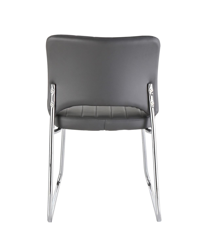 Homelegance Chromis Side Chair - Grey - Grey Bi-Cast Vinyl