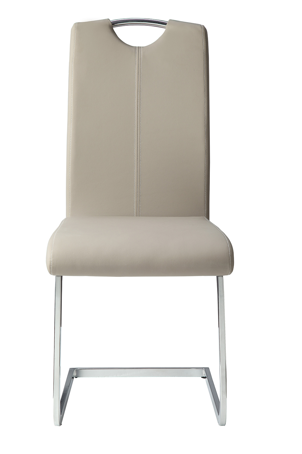 Homelegance Glissand Side Chair - Glossy - Grey-Taupe Bi-Cast Vinyl