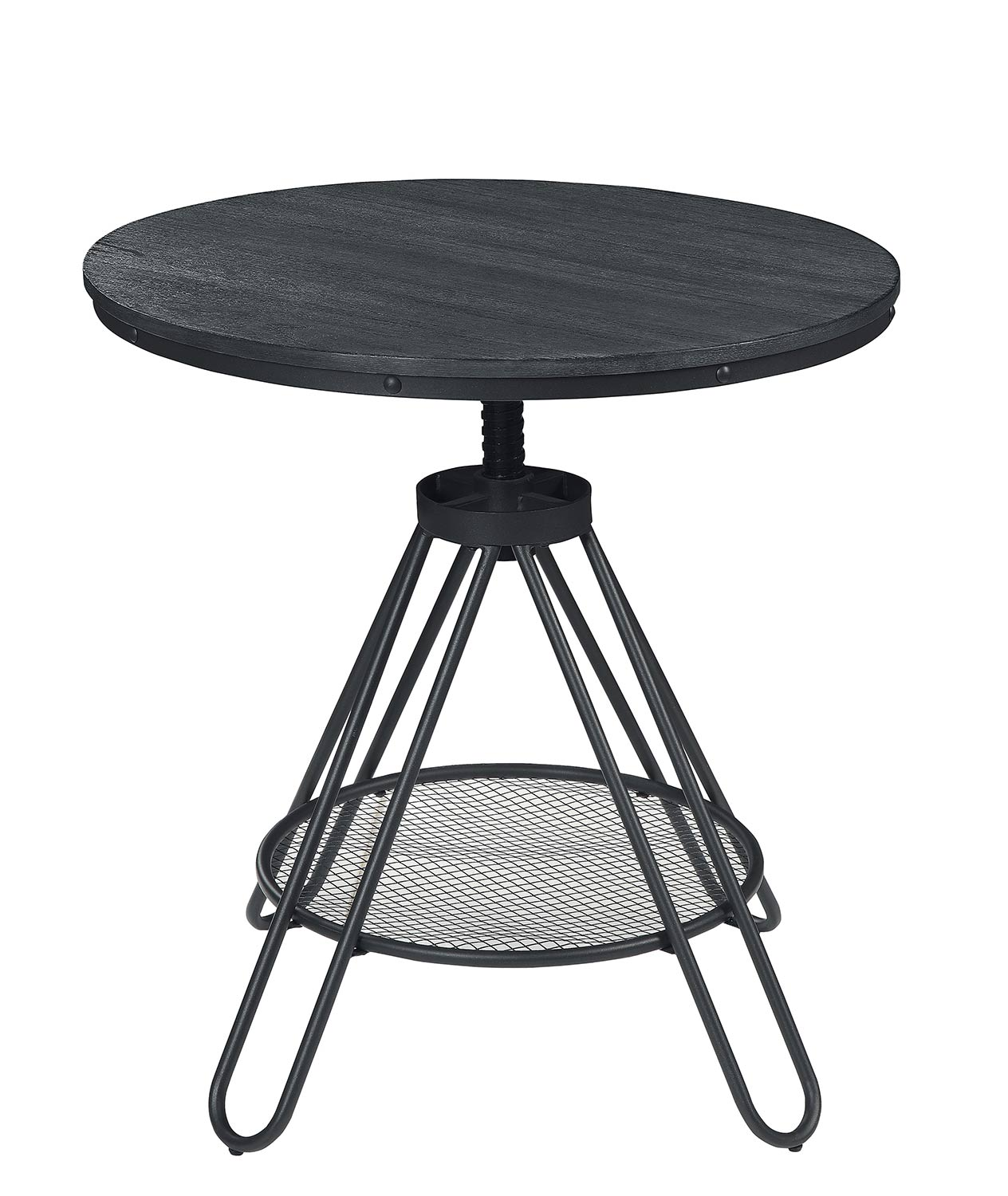 Homelegance Cirrus Adjustable Round Dining Table   Weathered Gray