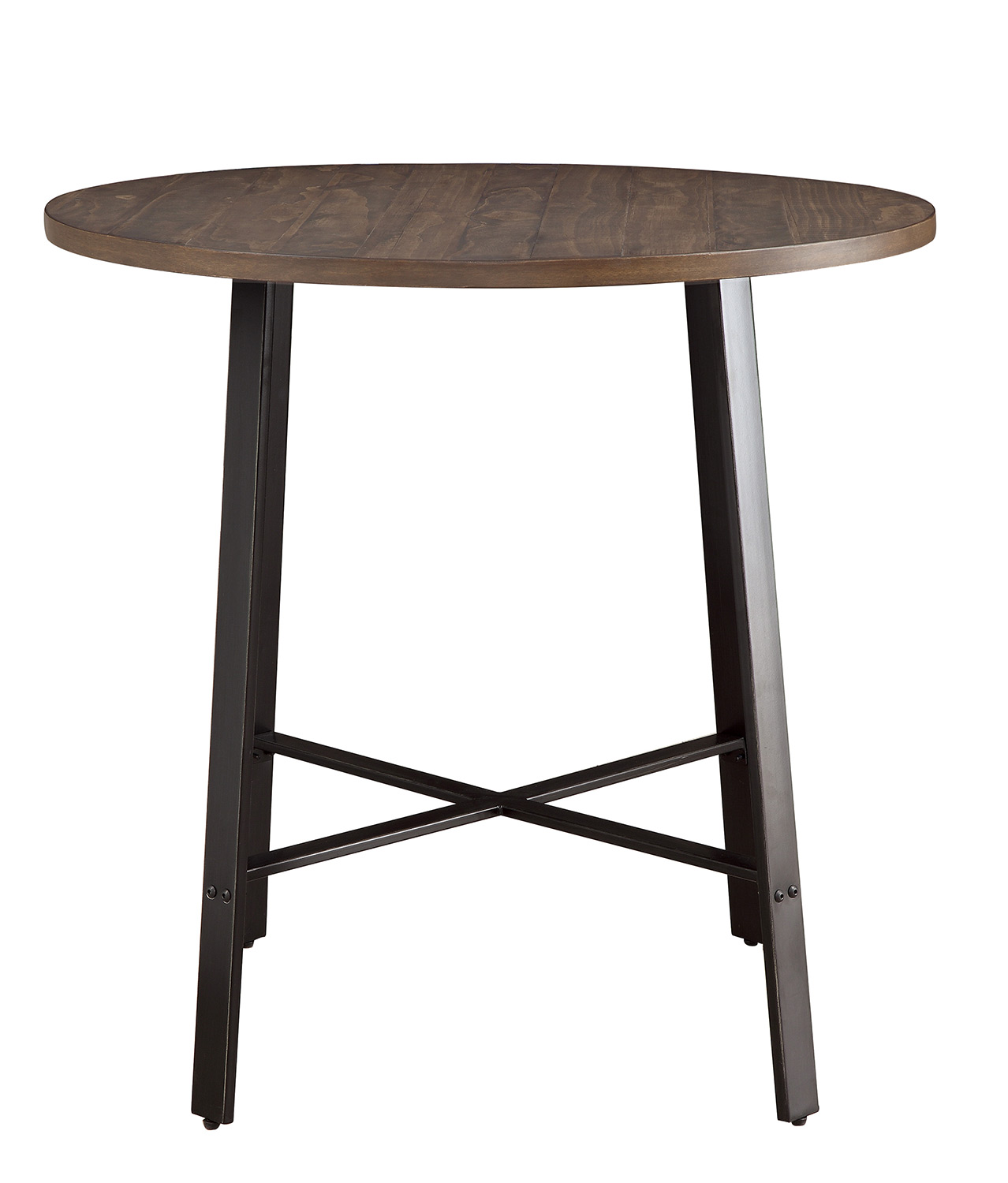 Homelegance Chevre Round Counter Height Table - Rustic - Gray Metal
