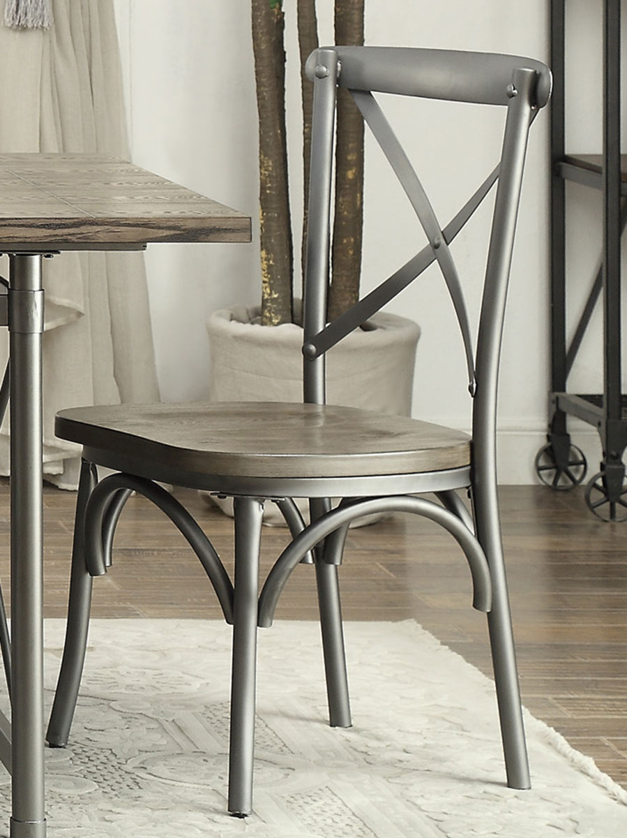 Homelegance Springer Side Chair - Weathered Gray