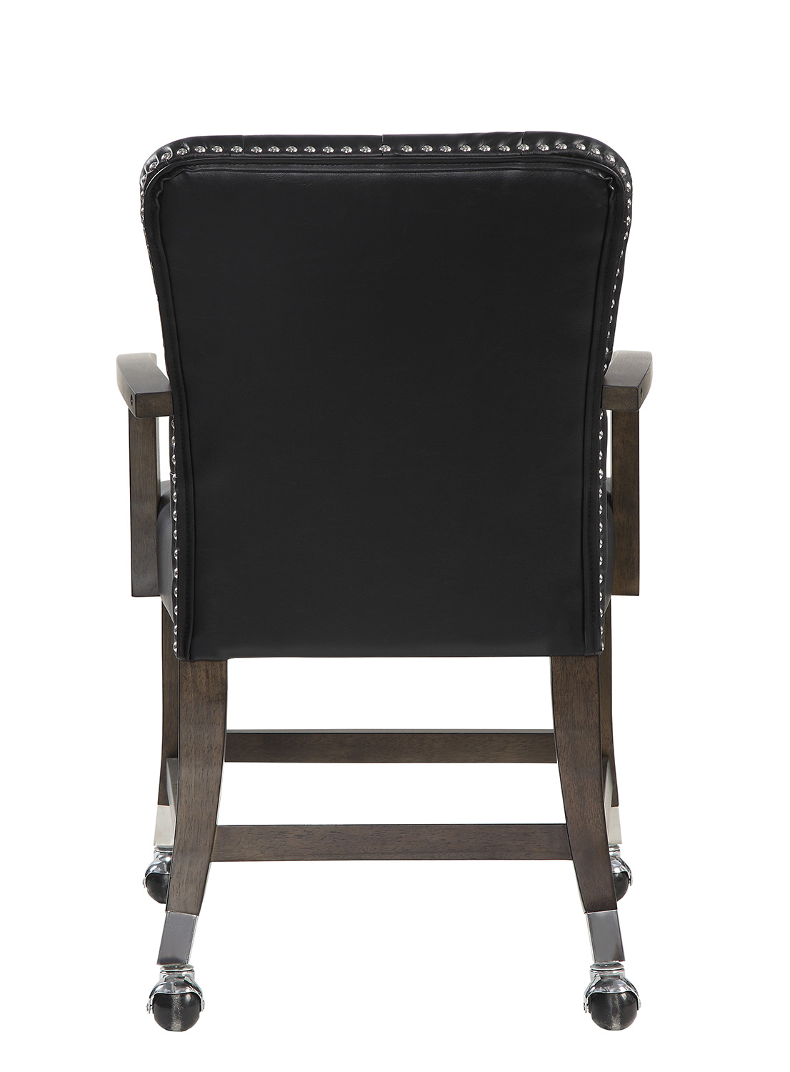 Homelegance Ante Tufted Arm Chair with Casters - Dark Brown