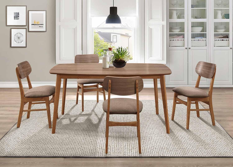 Homelegance Paran Dining Set - Natural Walnut