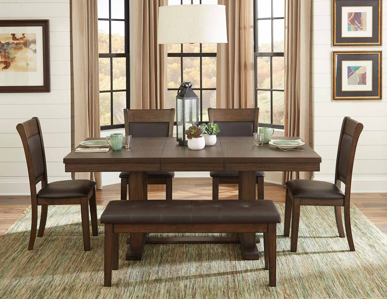 Homelegance Wieland Dining Set - Light Rustic Brown