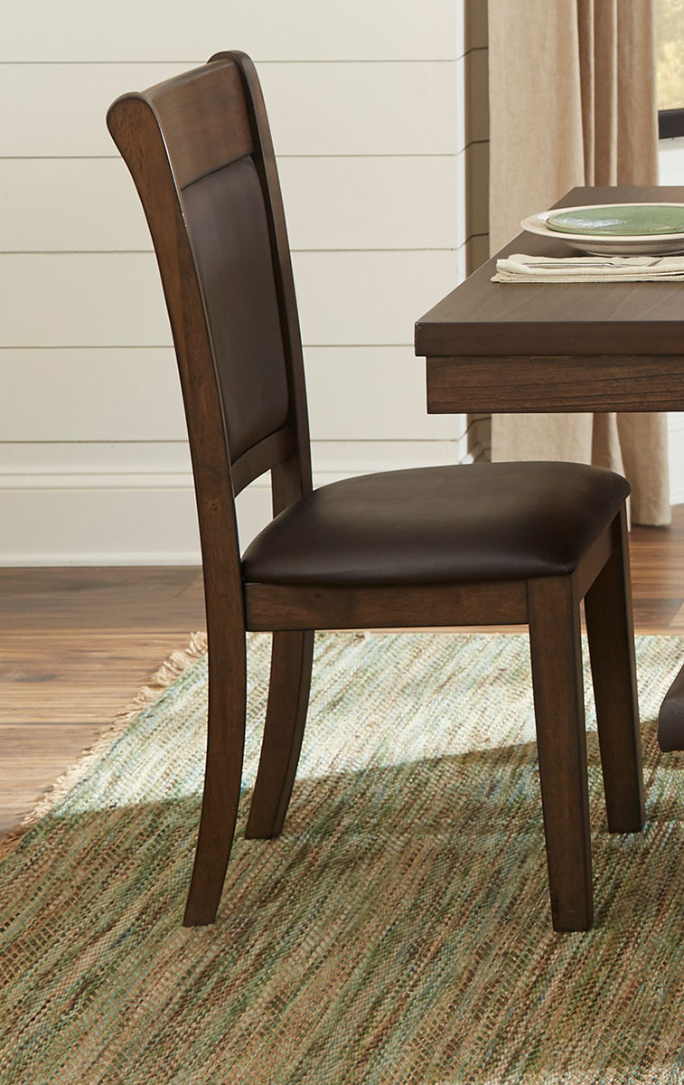 Homelegance Wieland Side Chair - Light Rustic Brown