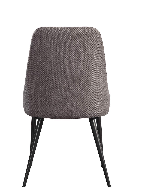 Homelegance Palladium Side Chair - Elm Solid - Grey Powder Coated Metal