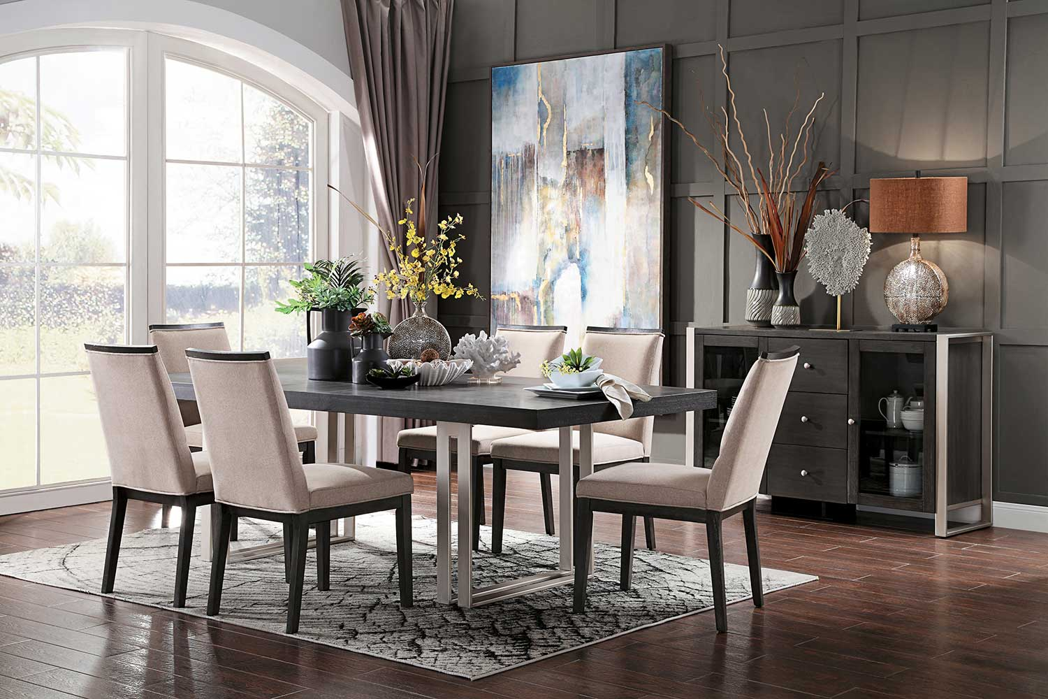 Homelegance Standish Dining Set - Gray