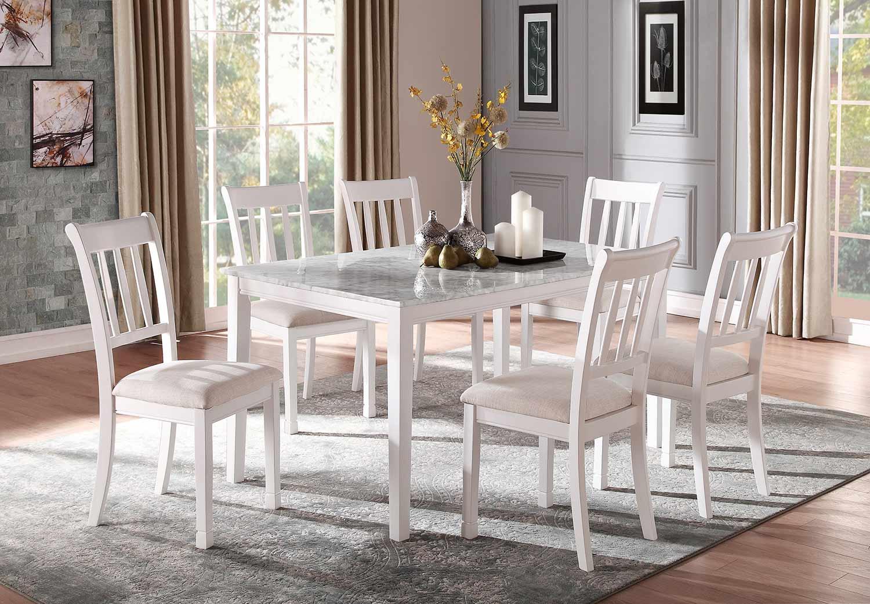 Homelegance Nadalia Dining Set - White