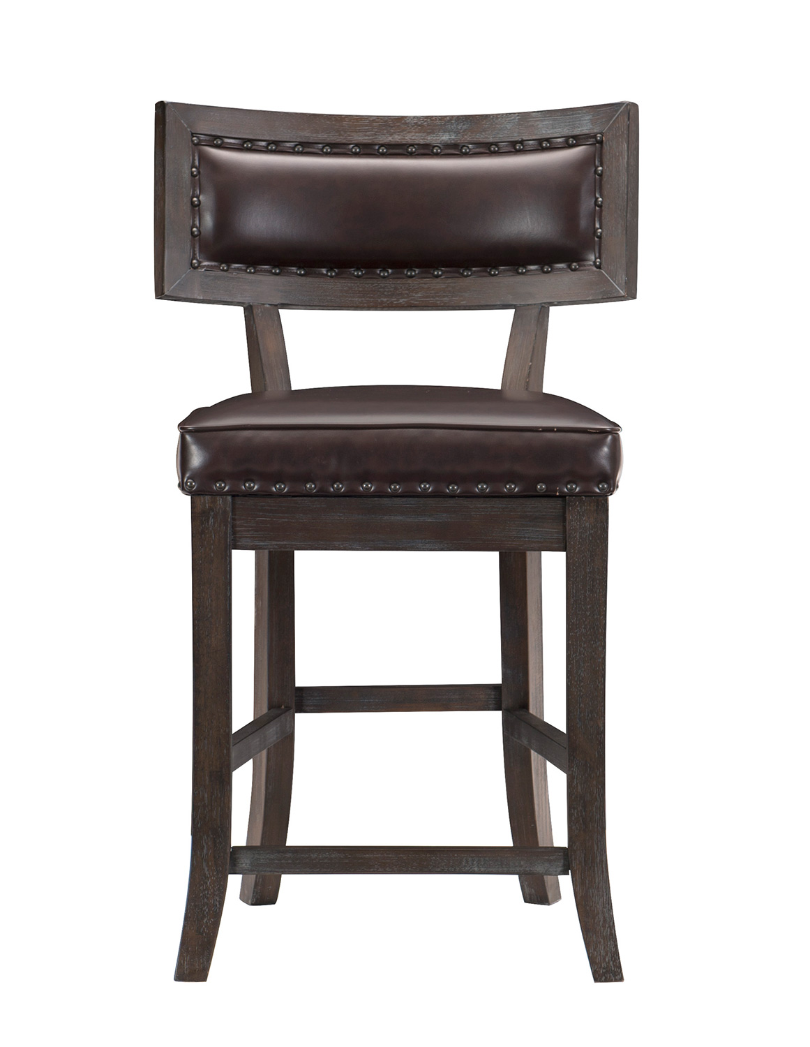 Homelegance Oxton Counter Height Chair - Rustic Brown