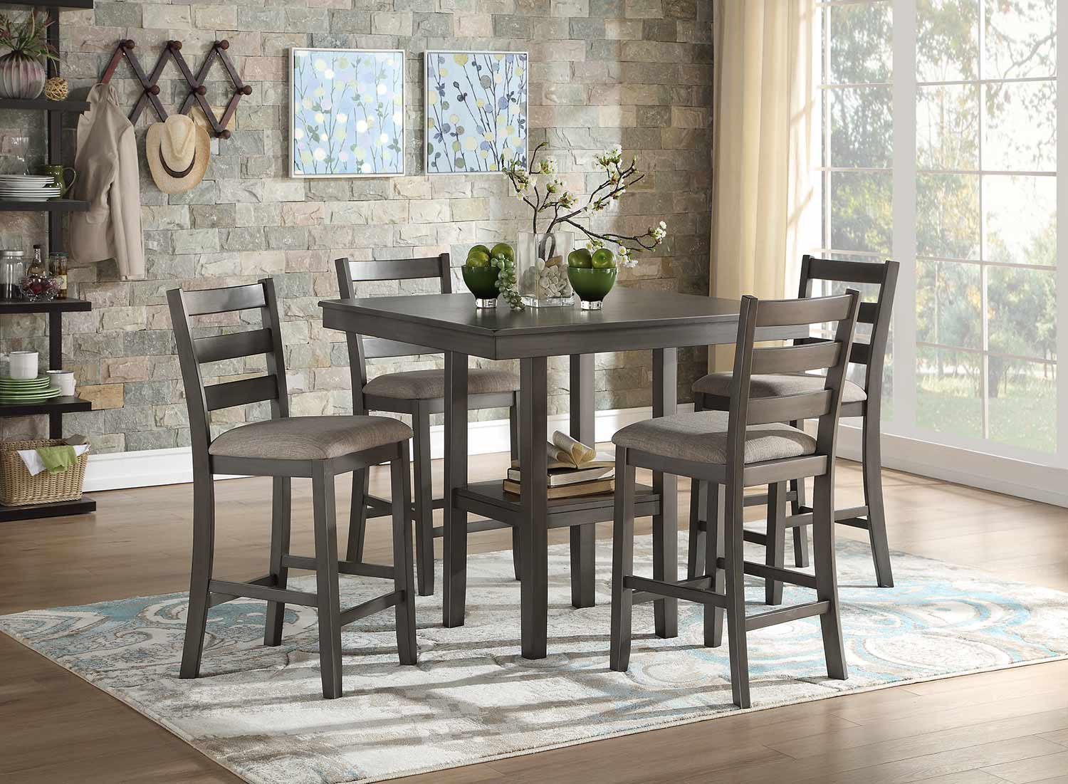 Homelegance Sharon 5-Piece Pack Counter Dining Set