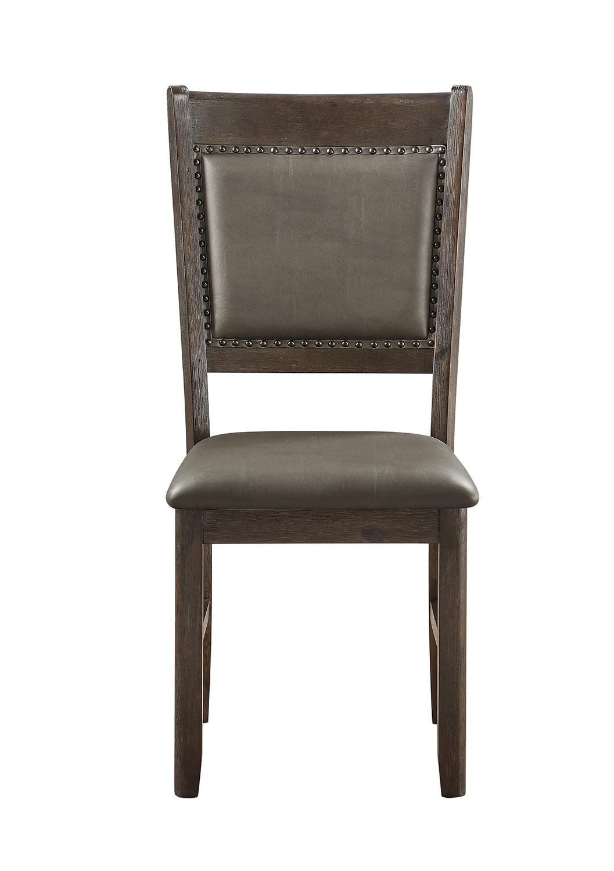 Homelegance Brim Side Chair - Brown Cherry