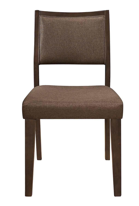 Homelegance Steer Side Chair - Walnut 2-Tone