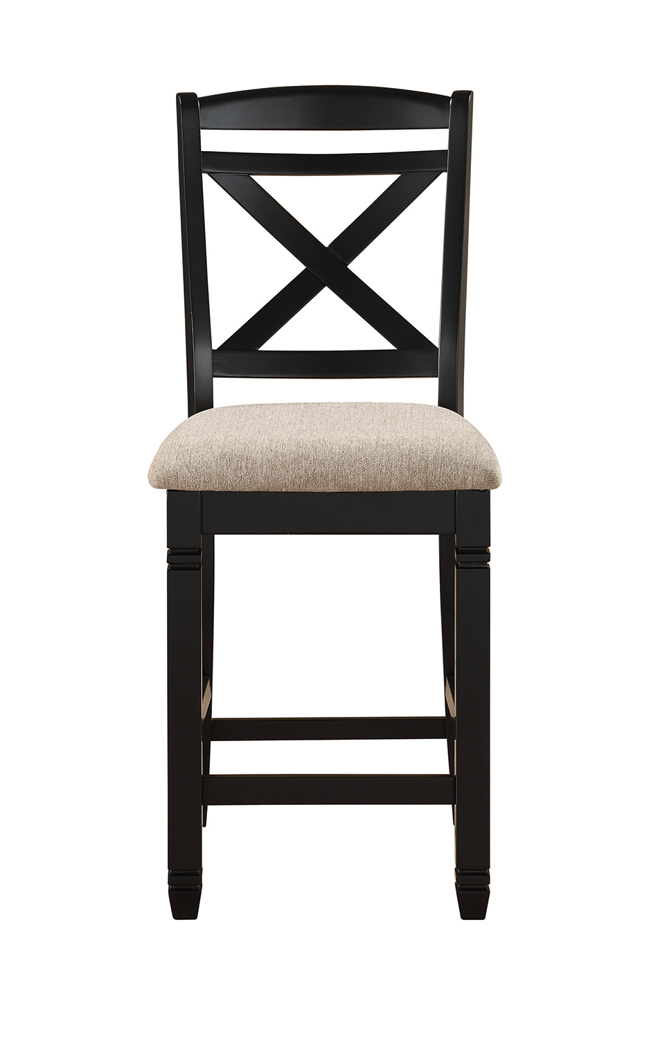 Homelegance Baywater Counter Height Chair - Black -Natural