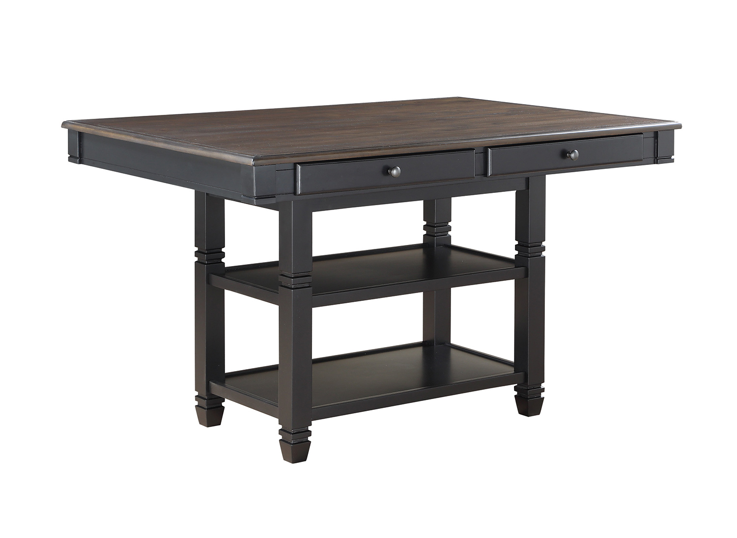 Homelegance Baywater Counter Height Dining Table - Black -Natural