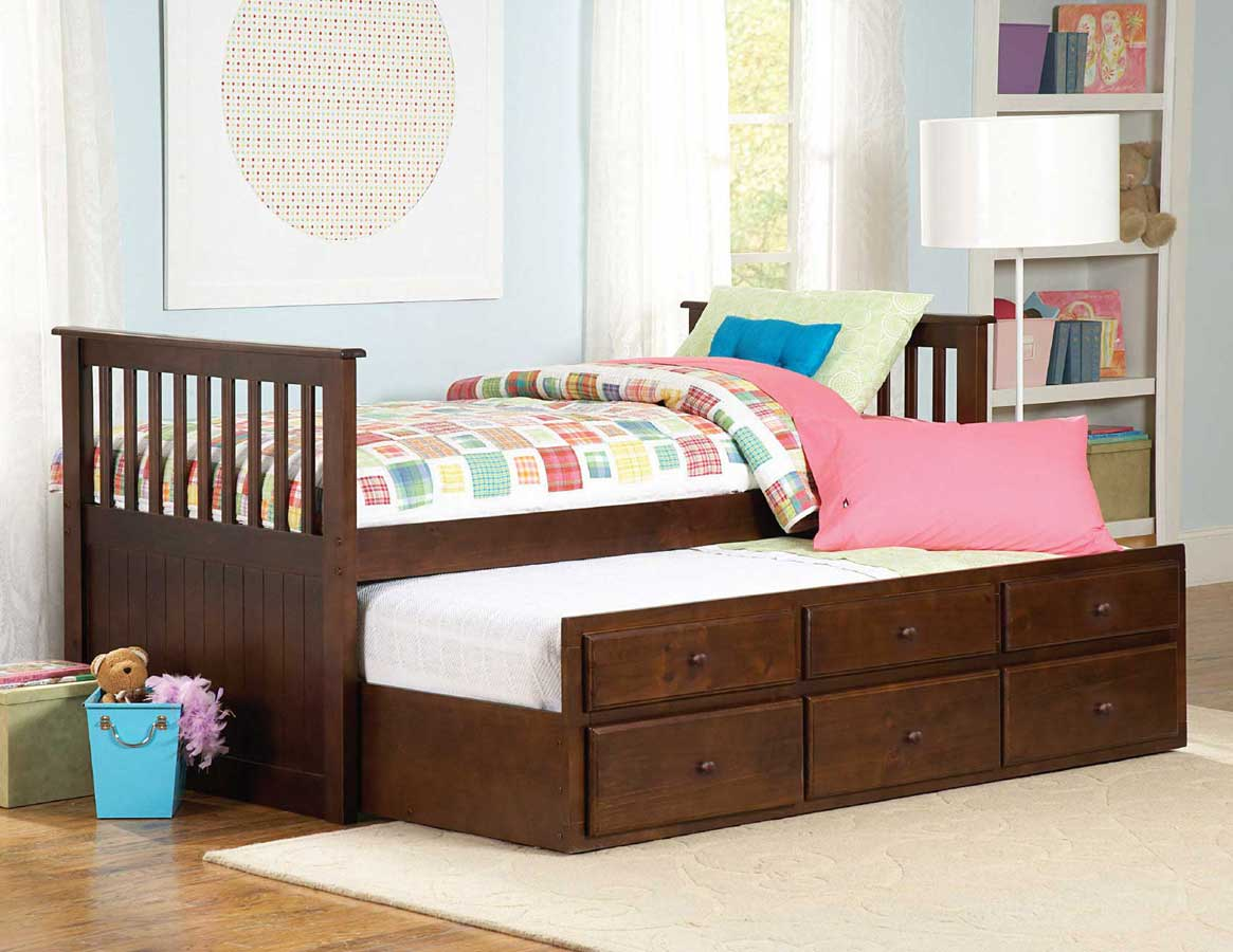 Homelegance Zachary Twin-Twin Trundle Bed 571PE-1 ...