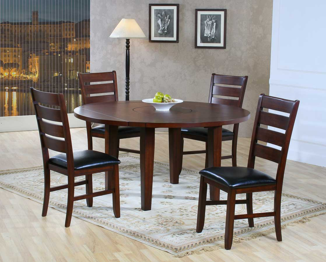 homelegance ameillia round drop leaf table - Drop Leaf Round Kitchen Table