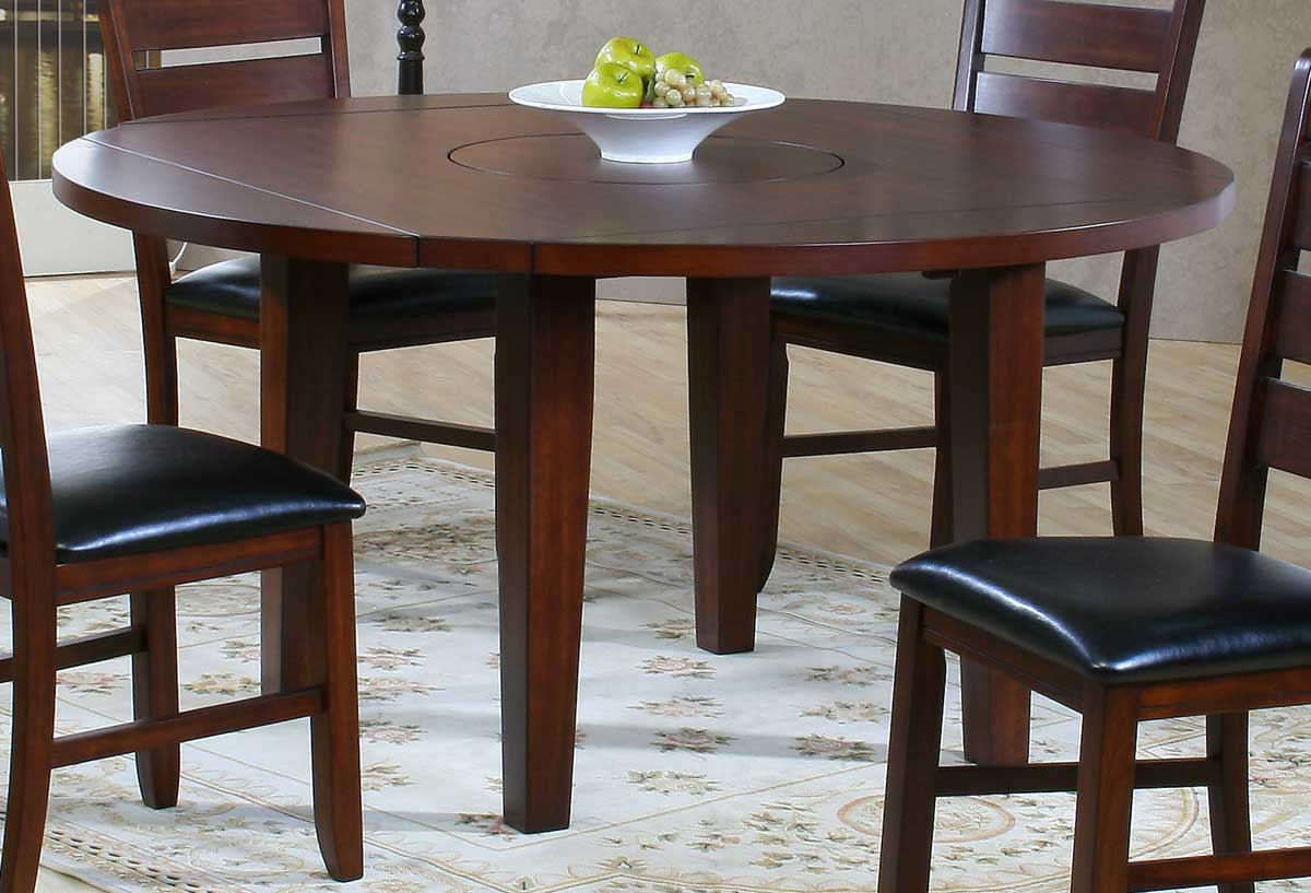 Homelegance ameillia round drop leaf table 586 60 for Round drop leaf dining table