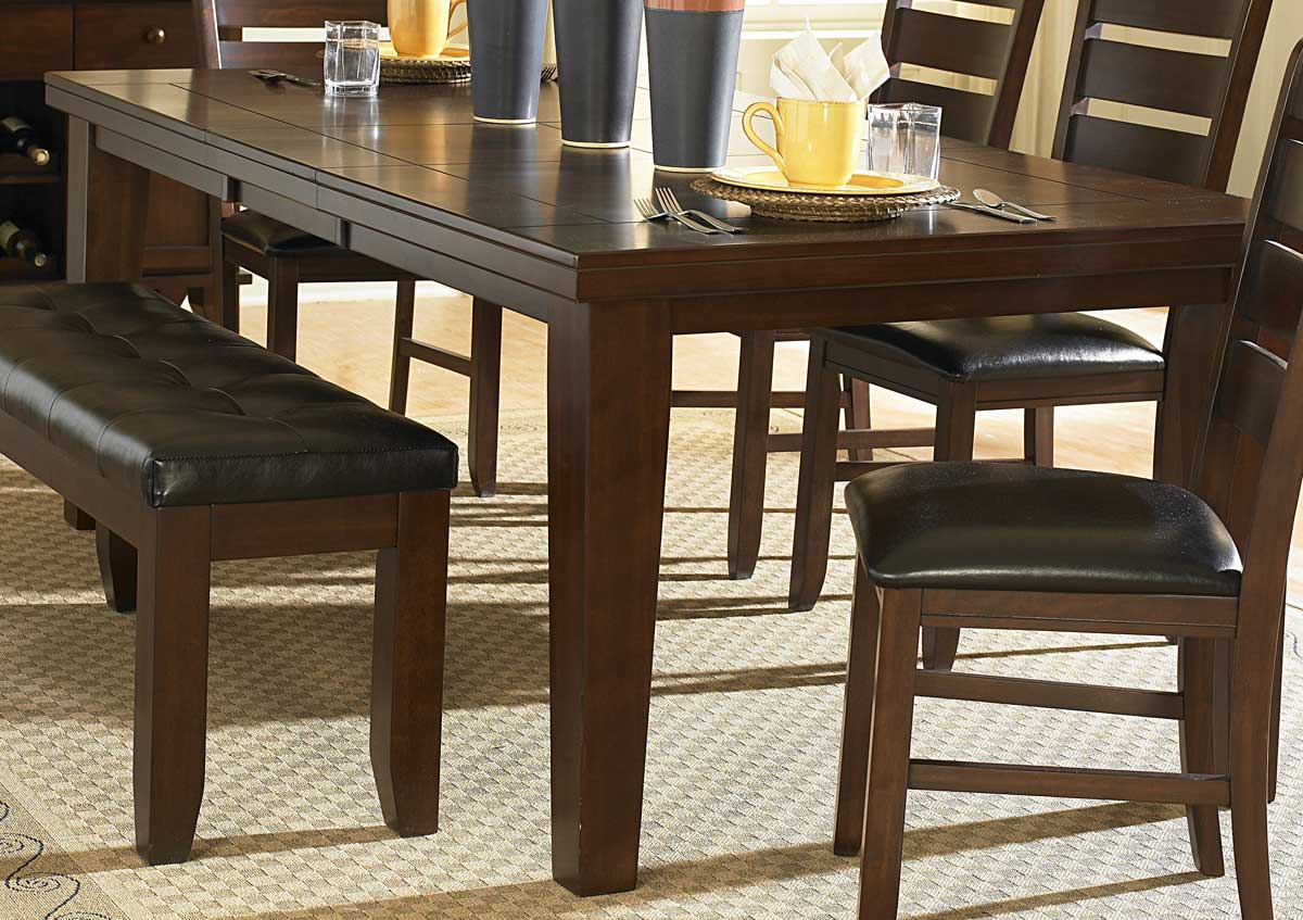 Homelegance Ameillia Dining Table - Dark Oak Finish