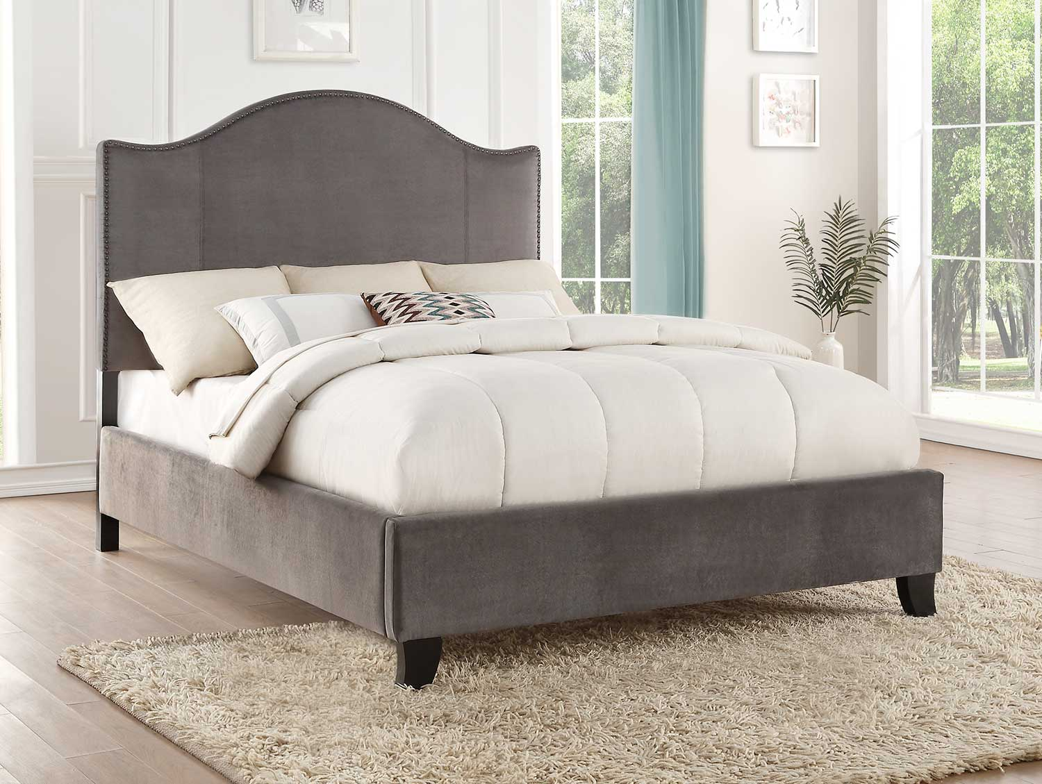 Homelegance Carlow Bed - Gray