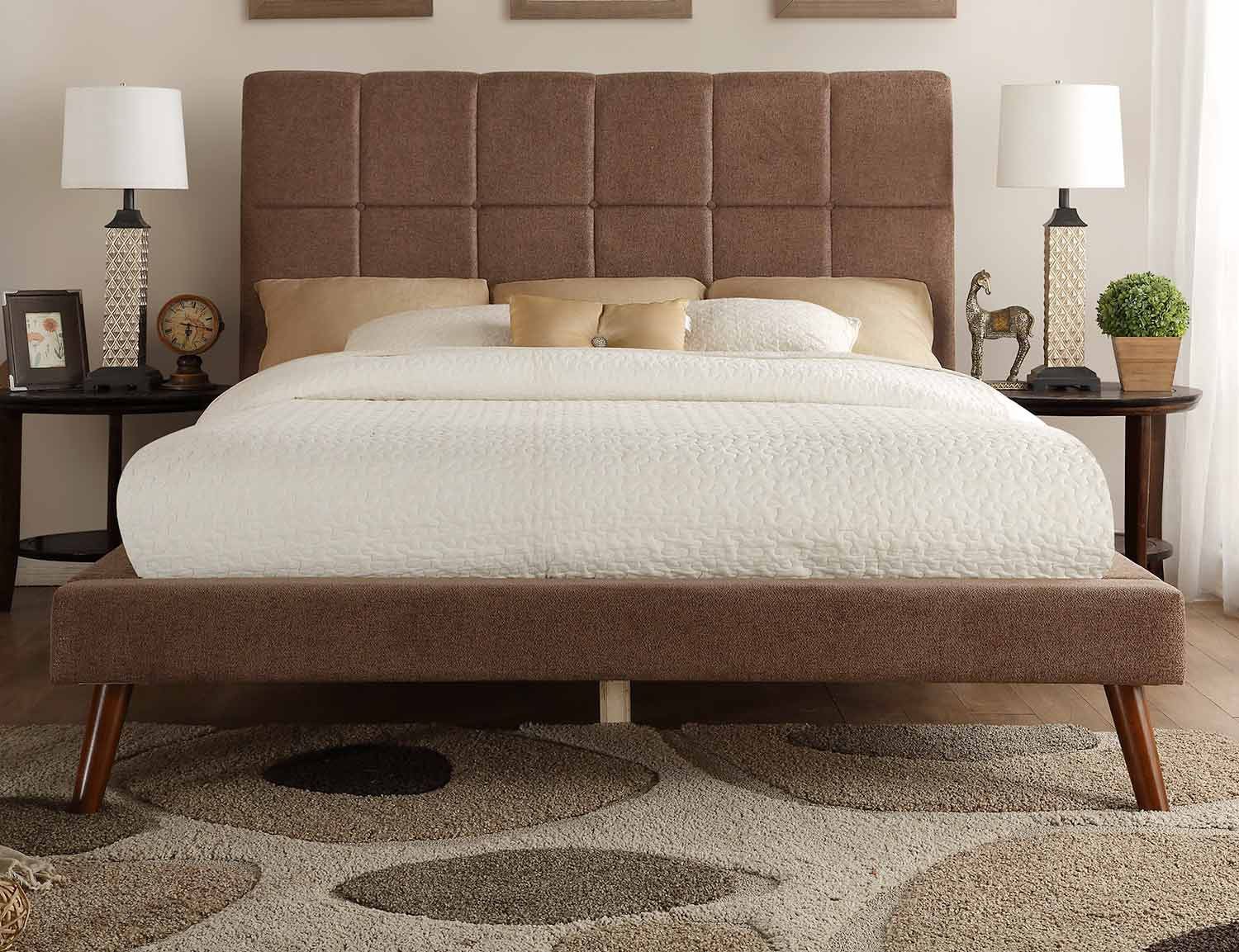 Homelegance Kinsale Upholstered Bed - Brown