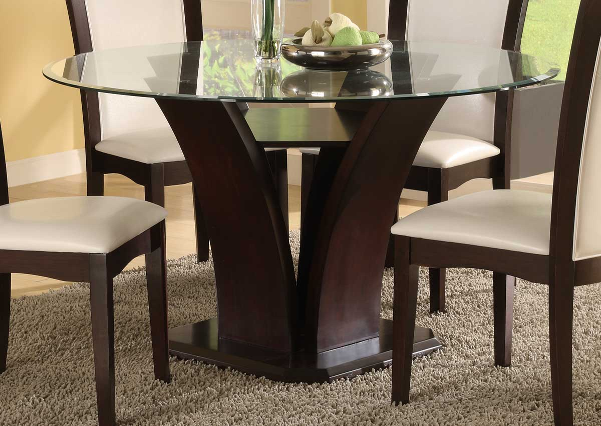 Round Dining Table homelegance daisy round 54 inch dining table 710-54