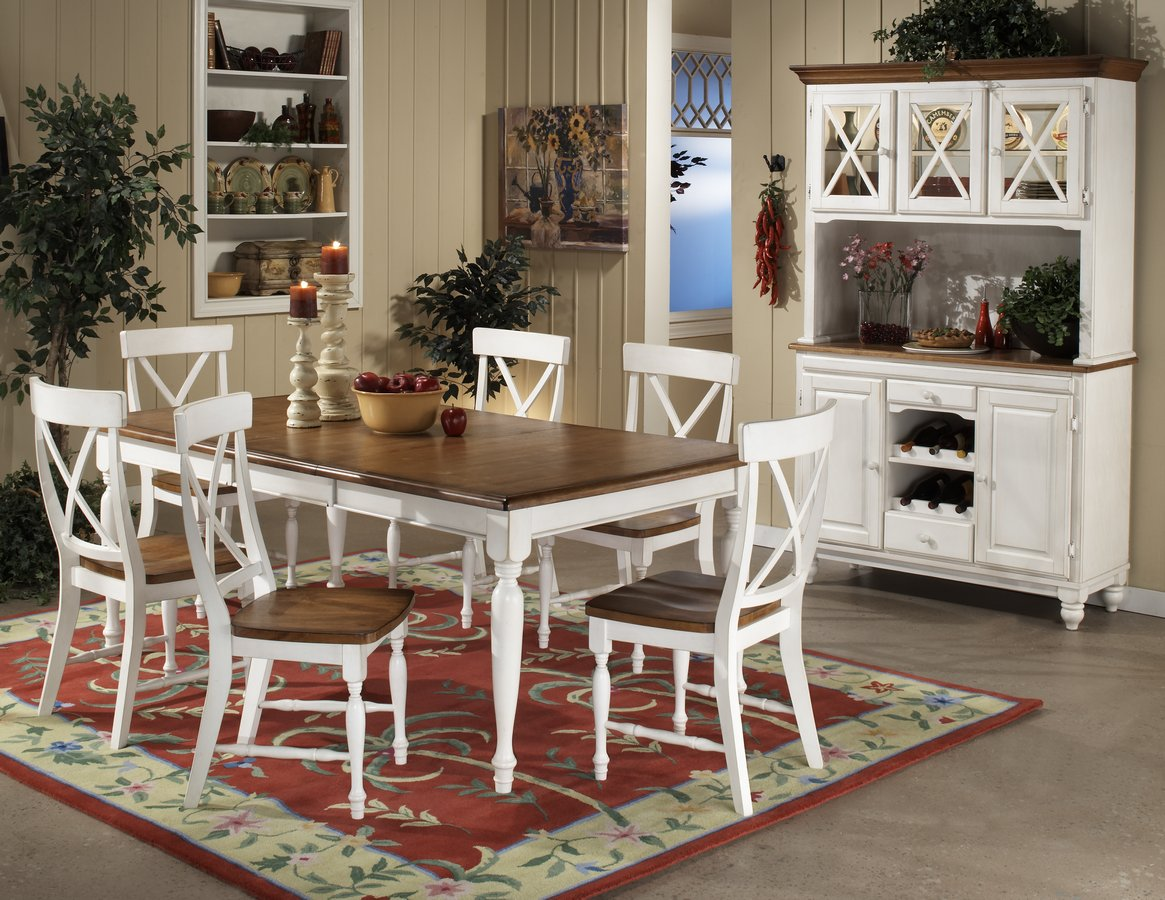 Homelegance expedition dining table white 715w 76 for White dining room table set