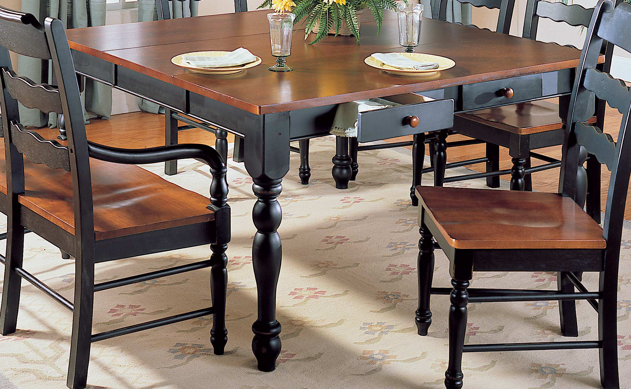 Homelegance sedgefield dining table with drawers and Dining table with drawer