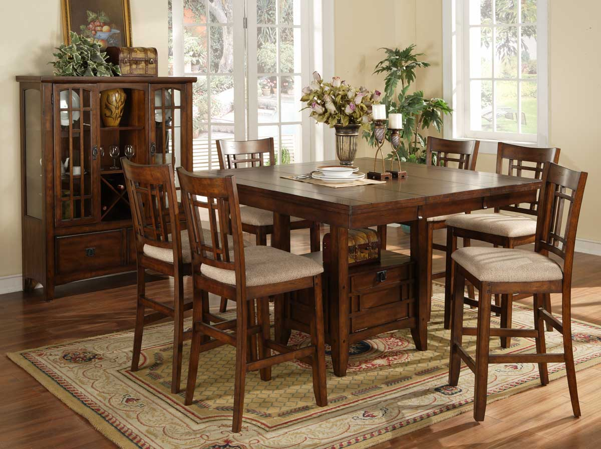 Homelegance sophie counter height dining table 795 36 for High top dinette sets
