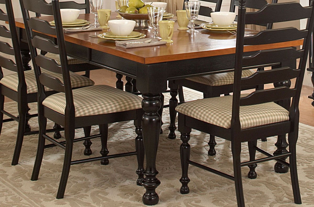 Two Toned Dining Room Sets Homelegance Foothill Dining Table 798bk 72