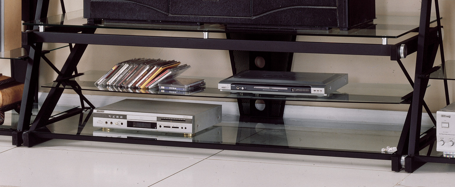 Superieur Homelegance Metal And Glass 50 Inch W TV Stand
