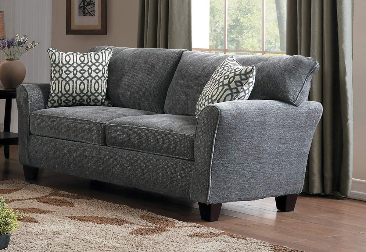 Homelegance Alain Love Seat - Gray