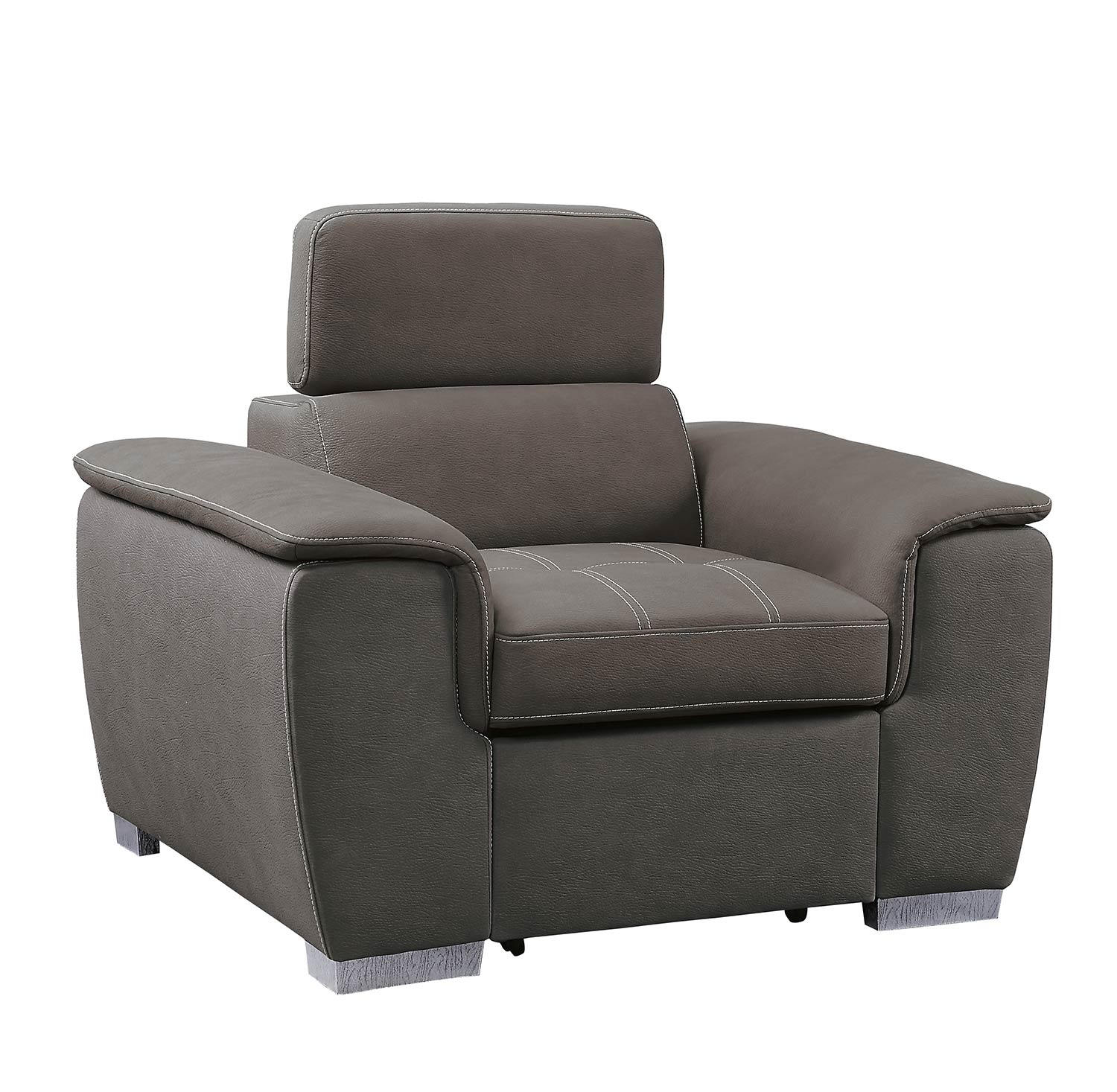 Homelegance Ferriday Chair with Pull-out Ottoman - Taupe