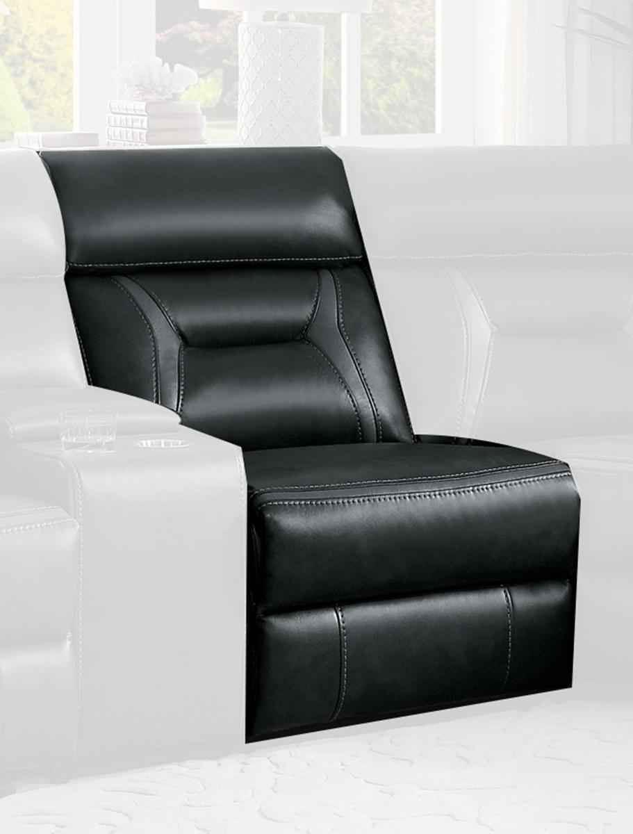 Homelegance Amite Power Armless Reclining Chair - Dark Gray