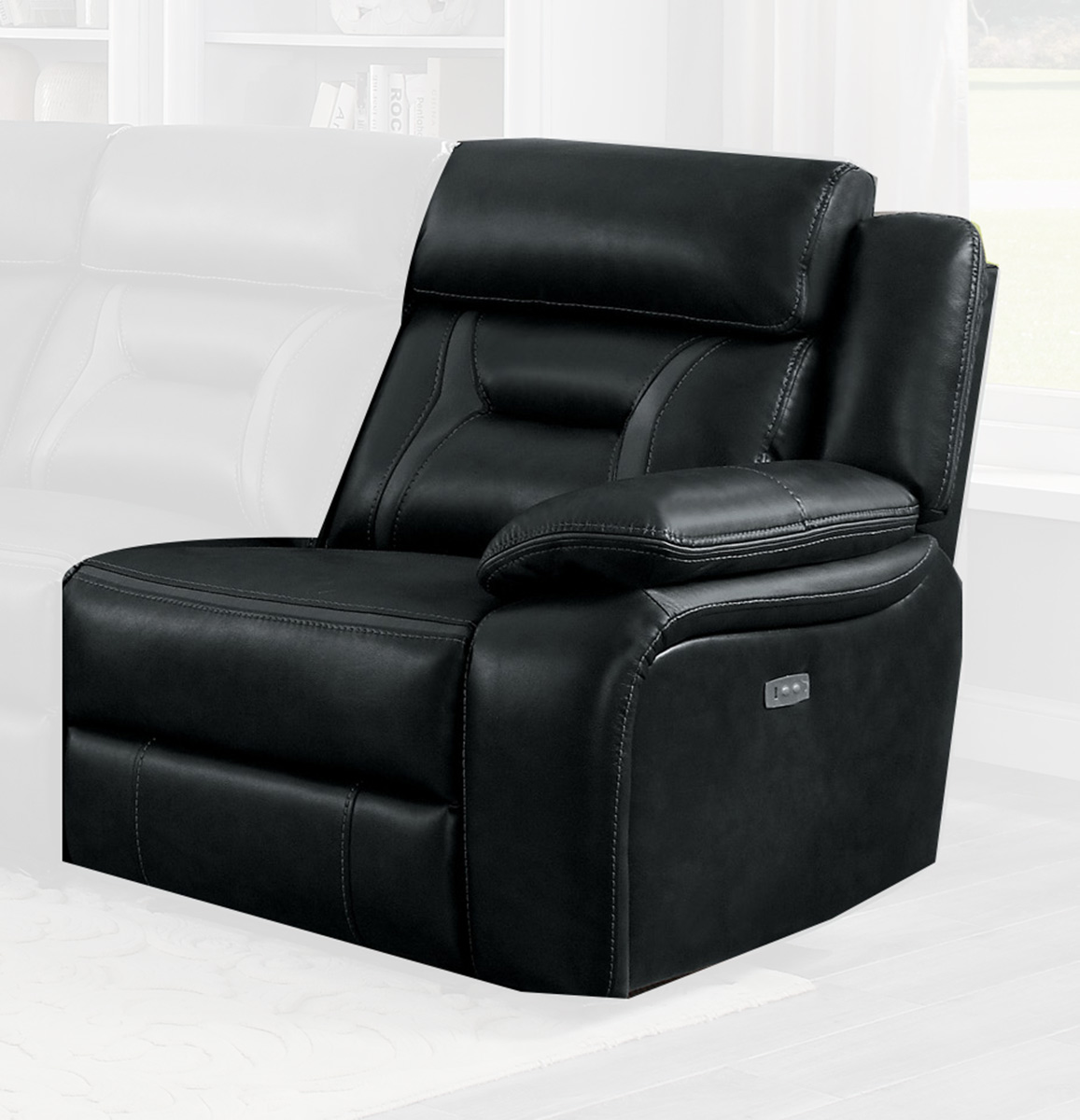 Homelegance Amite Power Right Side Reclining Chair - Dark Gray