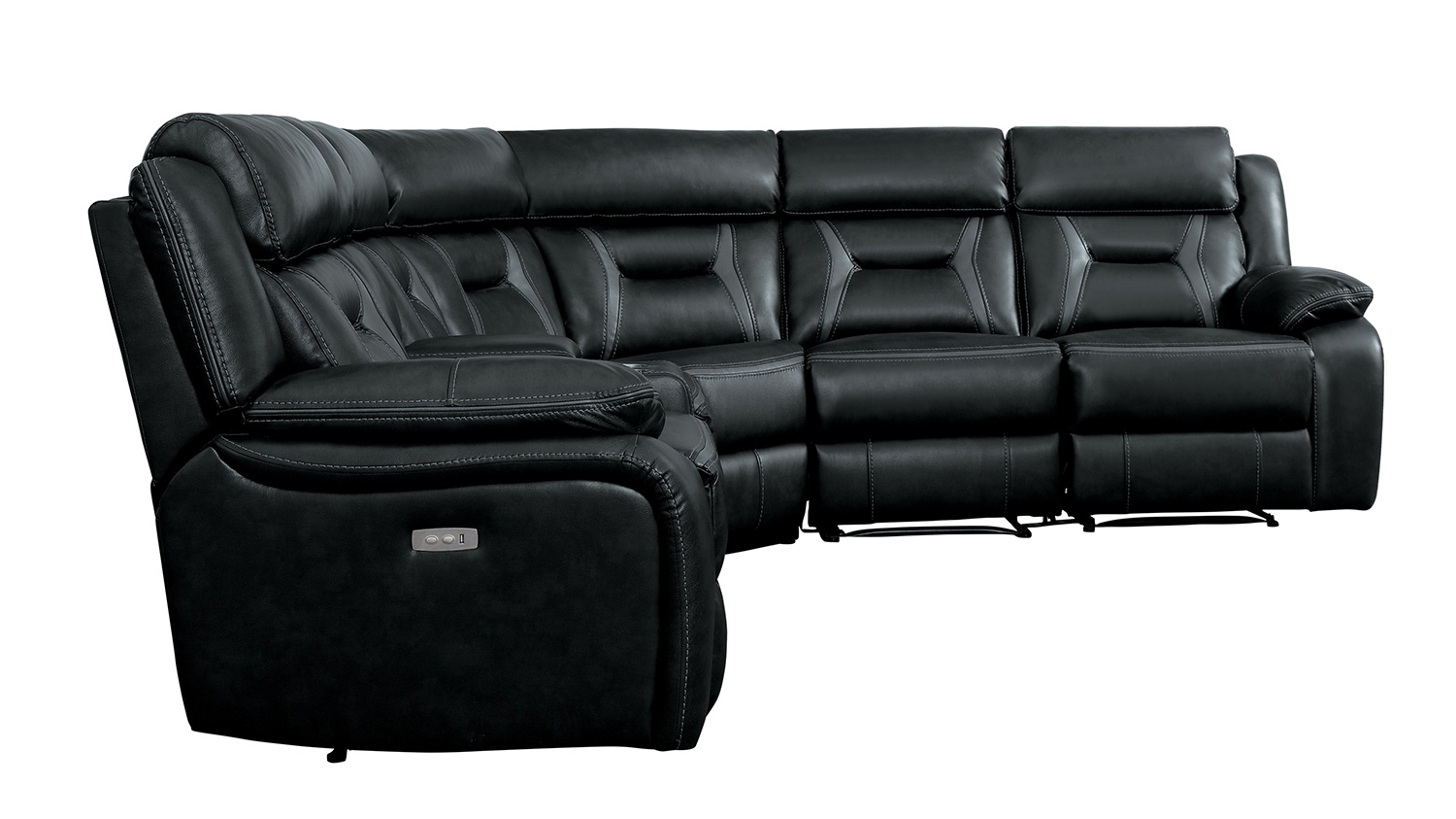 Homelegance Amite Power Reclining Sectional Sofa Set - Dark Gray