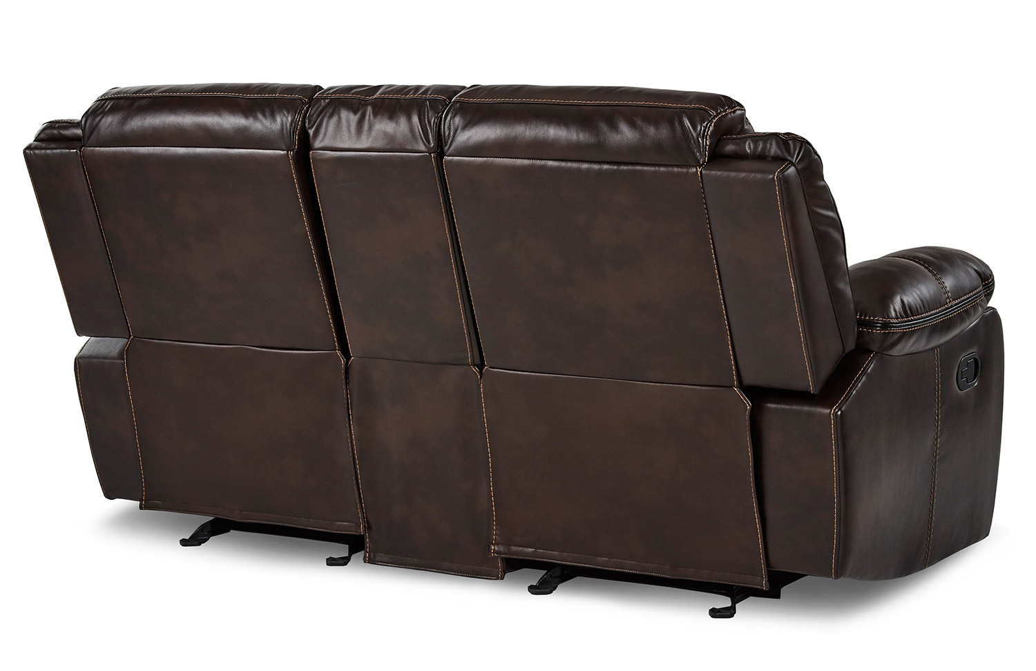 Homelegance Bastrop Double Glider Reclining Love Seat With Center Console - Dark Brown