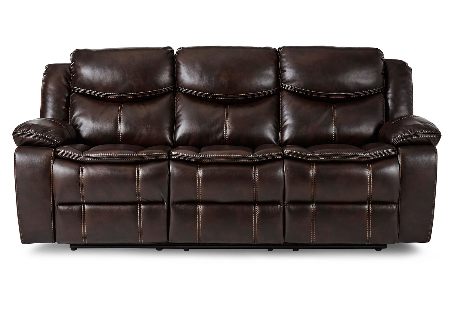Homelegance Bastrop Double Reclining Sofa - Dark Brown