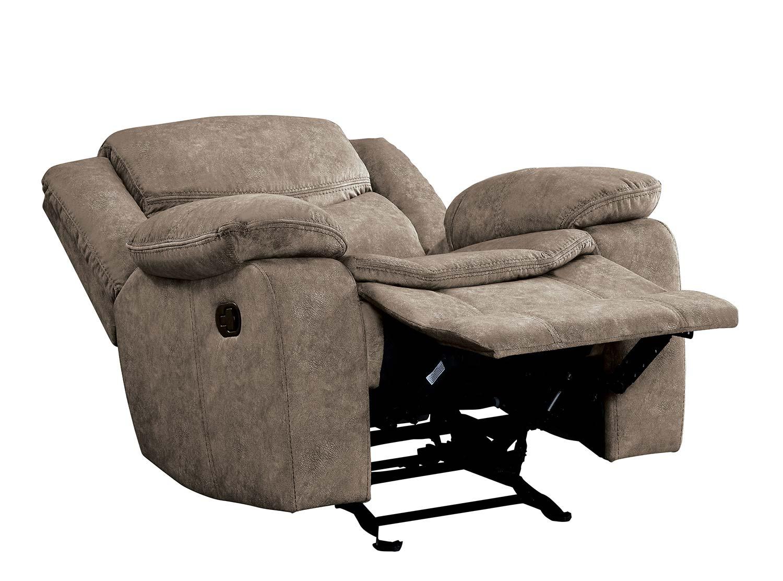 Homelegance Bastrop Glider Reclining Chair - Brown