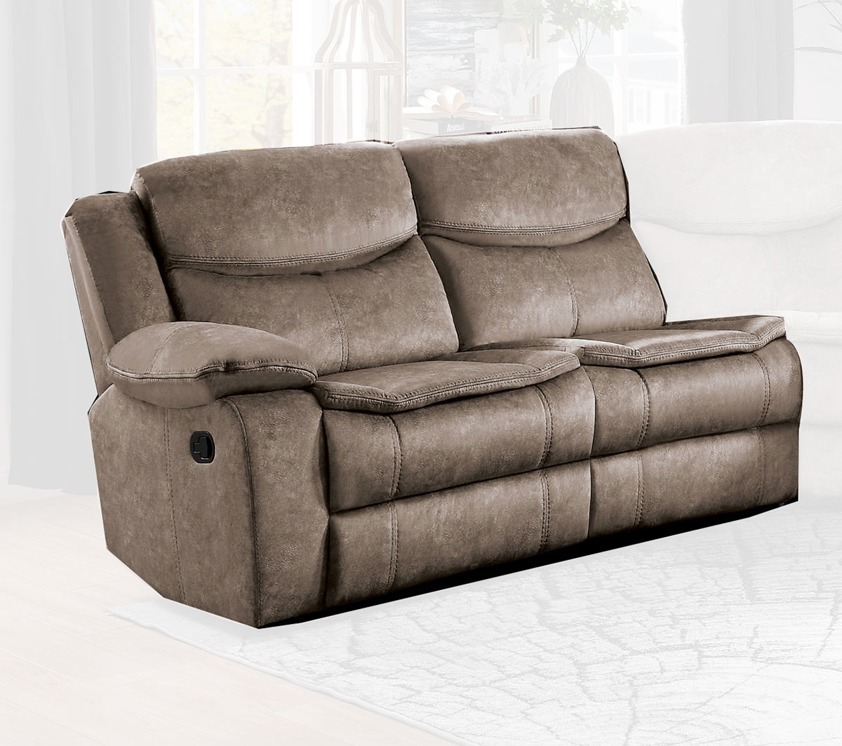 Homelegance Bastrop Left Side Reclining Love Seat - Brown