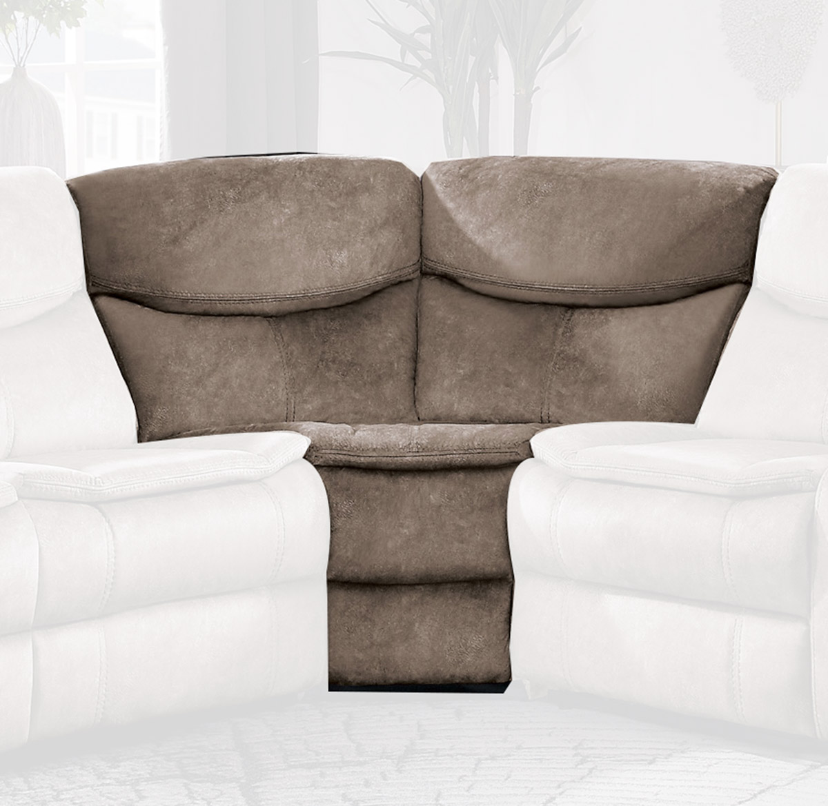 Homelegance Bastrop Corner Seat - Brown