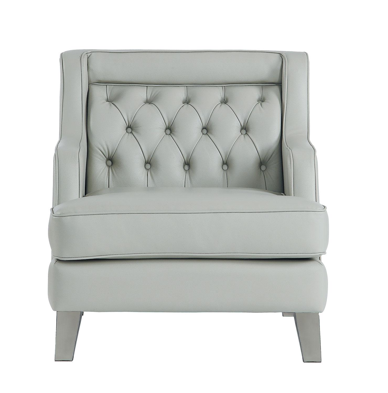 Homelegance Nevaun Chair - Light gray AireHyde