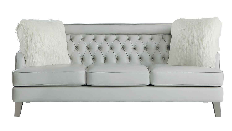 Homelegance Nevaun Sofa - Light gray AireHyde