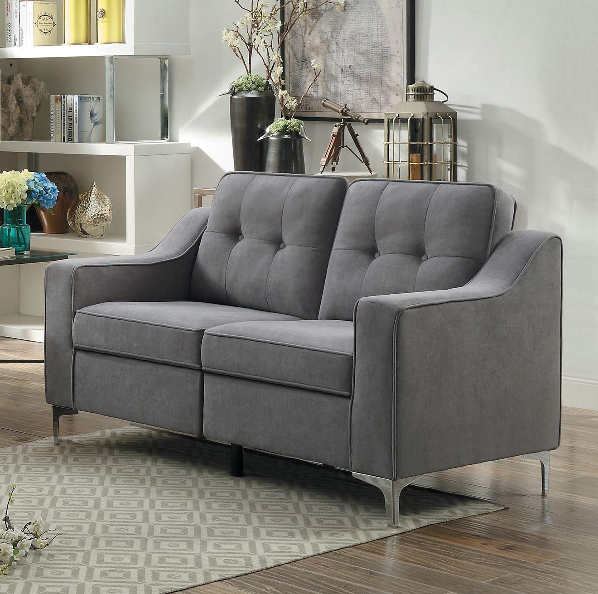Homelegance Murana Love Seat - Gray