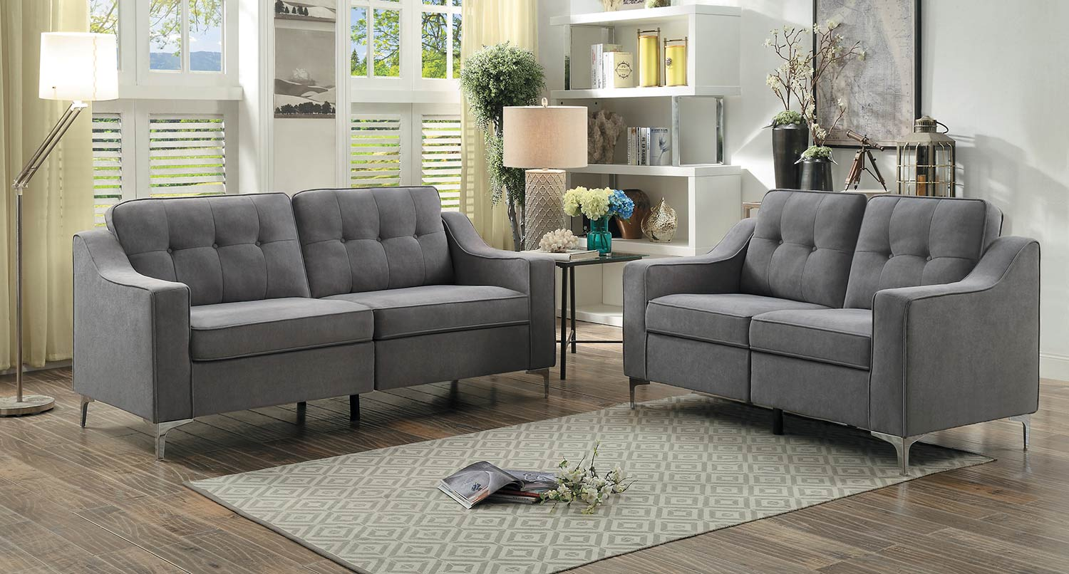 Homelegance Murana Sofa Set - Gray