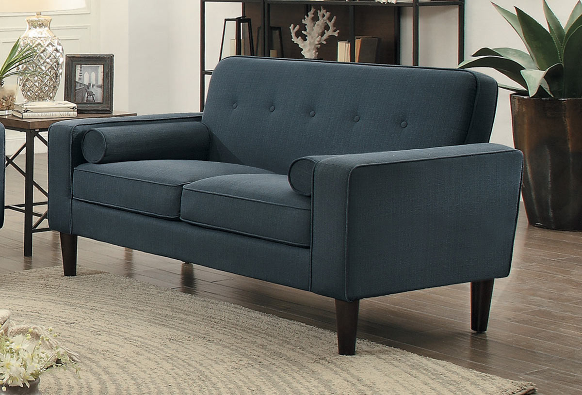 Homelegance Corso Love Seat - Dark Gray